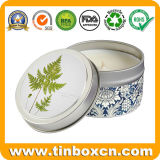 Hot Selling Customized Candle Metal Tin for Gift Packaging Box