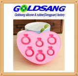 Loving Ring Diamond Shape Silicone Ice Cube Tray