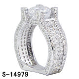 Fashion Cubic Zirconia Women′s Rings Round Cut Engagement Ring