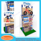 Double Sides Wholesale Trade MDF Slatwall Bicycle Display Stand Shelving
