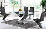 Living Room Furniture Special Design Glass Dining Table (A6033#)