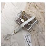 Make Your Own Bags Logo Custom Square Handle PVC Clear Transparent Handbags