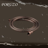 Portable Stainless Steel Hand Shower Hose Chrome Toilet Hose Flexible Short Shower Hose with Red Brozen