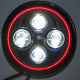 "7"" High Low Beam Red Motorcycle LED Headlight"
