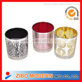 High Grade Stick Pattern Glass Candle Cup
