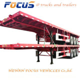 Focus 12.5m Length Flat Bed Truck Semi Trailer for Cement Bag Transport