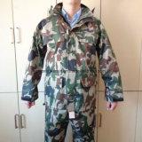 PVC/Polyester Waterproof Workwear Camouflage Rain Coat