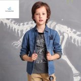 Fashion Cotton Leisure Boys′ Long Sleeve Denim Shirt by Fly Jeans