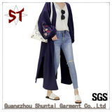 Hot Sale Long Style Leisure Bottom Split Outer Wear Coat