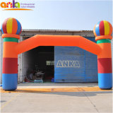 Customized Cheap Advertising Inflatable Balloon Event Rainbow Entrance Tunnel Archway Arch