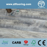 6.5mm WPC Click Flooring Classical Distressed Brush Grey Oak