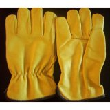 China Factory Industrial Safety Working Cow Split Leather Gloves