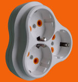Three Gang Earthed Socket Plug