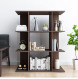 Simple Brown Bookcase with 2 Shelf