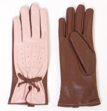 Lady Sheepskin Leather Dress Driving Fashion Gloves (YKY5153)