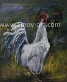 Animal Oil Paintings White Chicken Canvas Wall Pictures