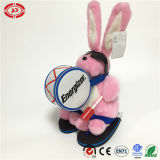 Rocking and Roll Fashion Pink Rabbit Knocking Drum Happy Toy