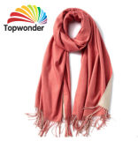Two Tone Scarf, Made of Wool, Acrylic, Polyester, Cotton or Royan, Sizes, Colors Available