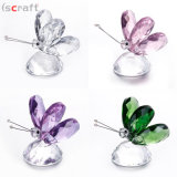 Four Butterfly Glass Crystal Figurine