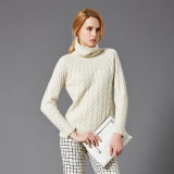 Women′s Crew Neck Cashmere Sweater High Quality Knitted Pullover Wholesale Chinese Factory
