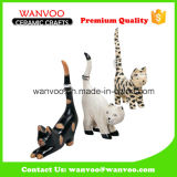 Customized Porcelain Tiger Statue for Home Decoration