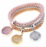 New Fashion Bracelets Bangles Jewelry Gold Color Chain Bracelet Round Hollow Charm Bracelets for Women