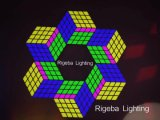 LED Magic Cube Wall Decoration DMX Control for Supermarket Event KTV Night Club Stage Lighting