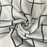 Double Face Brushed Check Wool Fabric