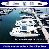 Bestyear Fiberglass Luxury Catamaran Yacht 38FT 11.6m Sightseeing Speed Leisure Boat Outboard Motor