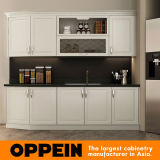 Oppein Europe Style White Kitchen Cabinet Small Kitchen Furniture (OP16-PVC07)