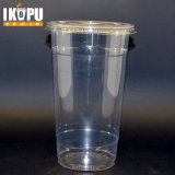 Custom Printed Clear Transparent Disposable PP Plastic Cup with Lid