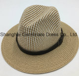 Paper Straw Hat Printed Hat with Belt (Sh023)