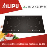 Two Burners Polished Plate Induction Cooker/Dual Plate Cooktop
