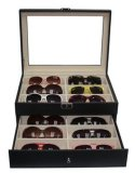 Quality MDF Leather Eyewear Display Case for Sunglasses Optical Spectacle Jewelry Gift Hand Crafts (X031)