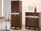 2 Door Walnut Shoe/Storage Tall Cabinet