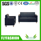 Black Leather Office Furniture Sofa Set (OF-10)