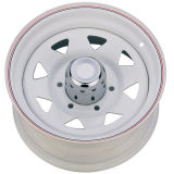 White Color with Red Line Steel Wheel UFO-Y17