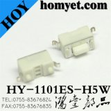 China Manufacturer SMD Tactile Push Switch Tact Switch with 2pin (HY-1101ES-H5W)