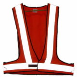 Red Traffic Warning Reflective Safety Vest (JMC-364N)