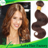 100% Unprocessed Human Hair Brown Peruvian Virgin Natural Weaving