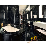 Chinese Cheap Black Marble Nero Marquina Marble Tiles for Bathroom and Countertop Use