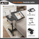 Height Adjustable Sit Stand Mobile Laptop Stand Desk Tilt Top Overbed Bedside Table Sofa Side Table