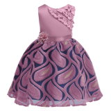 High Quality Embroidery Dress for Princess Formal Dresses Kids Wedding Evening Prom Gown