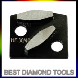 Trapezoid Double Square Diamond Concrete Grinding Tools Shoes/Metal Bond Floor Grinding Tools