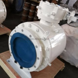 Side Entry Carbon Steel Split Bolted Body Double Block and Bleed Rptfe Nylon Peek Soft Seat Insert Flanged Floating Ball Valve & Trunnion Mounted Ball Valve