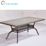 Good Price Dining Outdoor Furniture Square Luxury Metal Table for Garden