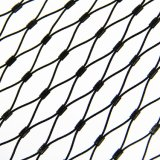 Knotted Type Black Oxide Flexible Stainless Steel Cable Rope Hand Woven Zoo Wire Mesh