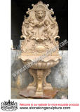 Hand Carved Marble Wall Fountain for Outdoor (SK-2442)