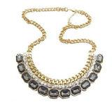 Big Color Crystal Stone Fashion Necklace/Fashion Jewelry (XJW12114)