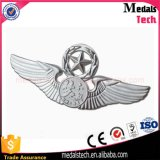 Wholesale Cheap Custom Silver Plated Metal Crafts Wing Lapel Pin Badge